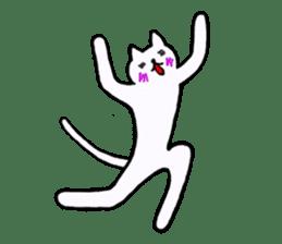Simple sticker of white cat sticker #1590096