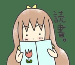 Picture book sticker top ribbon girls sticker #1590099