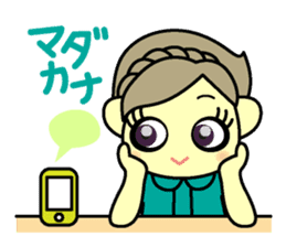 colorful tsukema-girl sticker #1590463