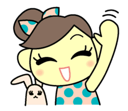 colorful tsukema-girl sticker #1590483