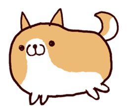 lazy shiba sticker #1595433