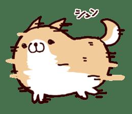 lazy shiba sticker #1595434