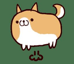lazy shiba sticker #1595436