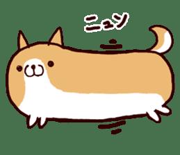 lazy shiba sticker #1595437