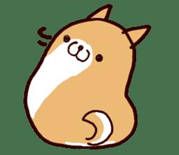 lazy shiba sticker #1595441
