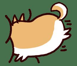 lazy shiba sticker #1595443