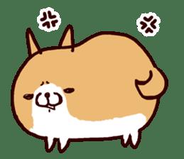 lazy shiba sticker #1595444