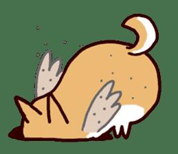 lazy shiba sticker #1595445