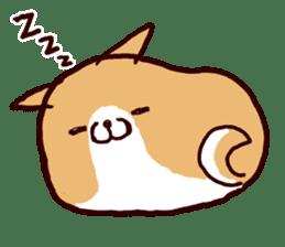 lazy shiba sticker #1595451