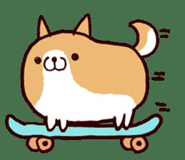 lazy shiba sticker #1595466