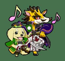 SENGOKU PUZZLE!! ANIMAL DAIGASSEN sticker #1598606