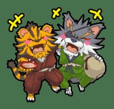 SENGOKU PUZZLE!! ANIMAL DAIGASSEN sticker #1598608