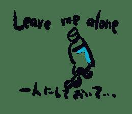Plasticbottle talking (english) sticker #1599076