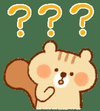 Cute child squirrel sticker #1599436