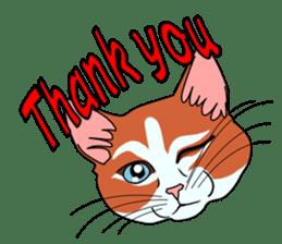 Matatabby of the cat (English  version) sticker #1600837