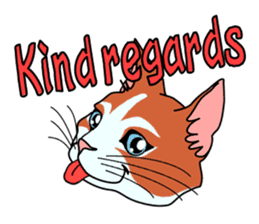 Matatabby of the cat (English  version) sticker #1600872