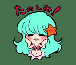 Sirena of the mermaid sticker #1605855