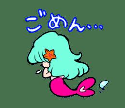 Sirena of the mermaid sticker #1605859