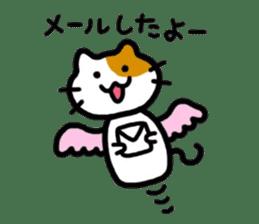 Japanese wooden doll cat sticker #1606001