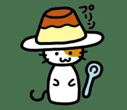 Japanese wooden doll cat sticker #1606004