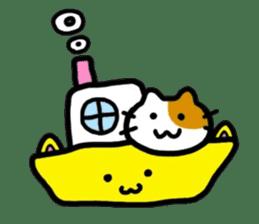 Japanese wooden doll cat sticker #1606008