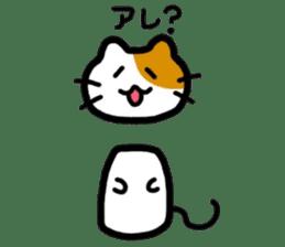 Japanese wooden doll cat sticker #1606013