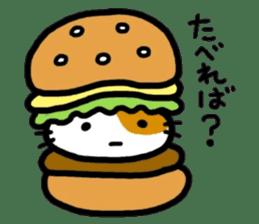 Japanese wooden doll cat sticker #1606020