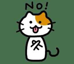 Japanese wooden doll cat sticker #1606021