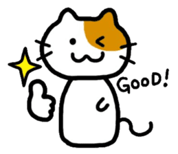 Japanese wooden doll cat sticker #1606030