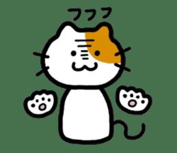 Japanese wooden doll cat sticker #1606031