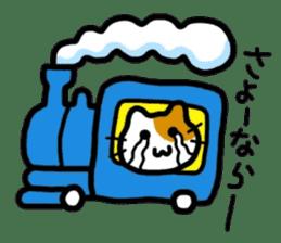 Japanese wooden doll cat sticker #1606032