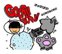 Onomatopoeia of Japan by cat's paw G~P sticker #1608244