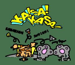 Onomatopoeia of Japan by cat's paw G~P sticker #1608250