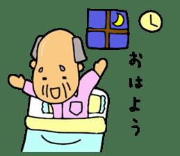 A Japanese grandfather.  Mr. Machida sticker #1609073