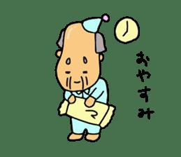 A Japanese grandfather.  Mr. Machida sticker #1609075