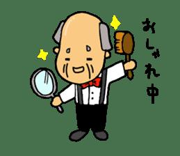 A Japanese grandfather.  Mr. Machida sticker #1609080