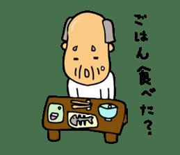 A Japanese grandfather.  Mr. Machida sticker #1609082