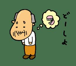 A Japanese grandfather.  Mr. Machida sticker #1609084