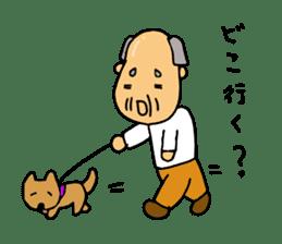 A Japanese grandfather.  Mr. Machida sticker #1609087