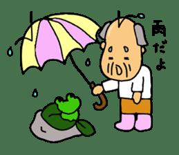 A Japanese grandfather.  Mr. Machida sticker #1609088