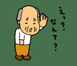 A Japanese grandfather.  Mr. Machida sticker #1609091