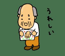 A Japanese grandfather.  Mr. Machida sticker #1609094