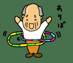 A Japanese grandfather.  Mr. Machida sticker #1609097