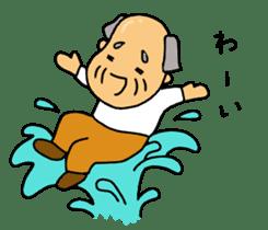 A Japanese grandfather.  Mr. Machida sticker #1609104