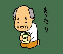 A Japanese grandfather.  Mr. Machida sticker #1609106