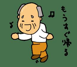 A Japanese grandfather.  Mr. Machida sticker #1609111