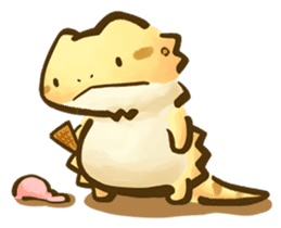 Beardie and reptile sticker #1610720