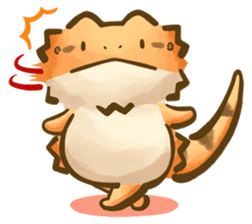 Beardie and reptile sticker #1610728