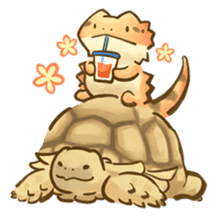 Beardie and reptile sticker #1610748