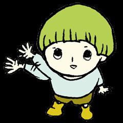 moss boy sticker